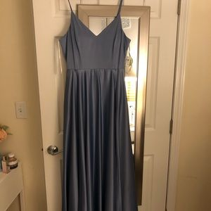 Formal Slate Blue Gown